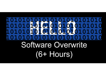 data left behind from overwriting