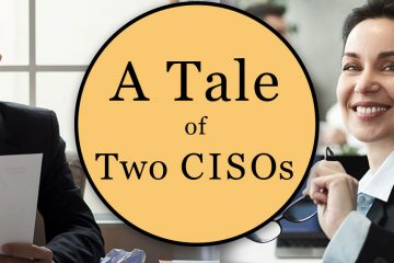 Header image of one successful CISO and one unsuccessful CISO because of how they handle decommissioning hard drives